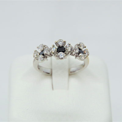 K18WGダイヤ ダイヤ1.00CT リングサイズ約11号