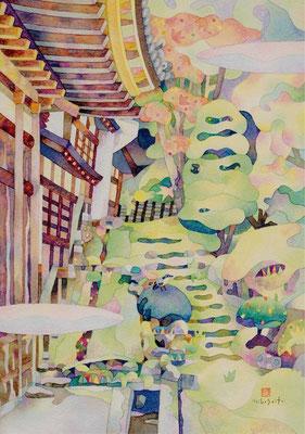 ことりのいる庭-東北'11③宮城 松島 瑞巌寺