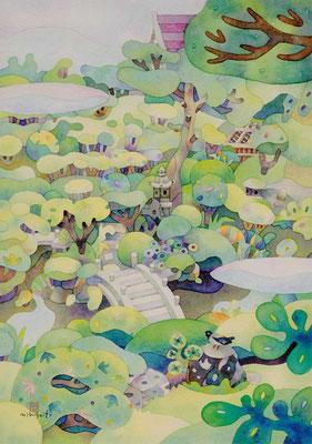 ことりのいる庭-東北'11④山形 酒田    本間美術館
