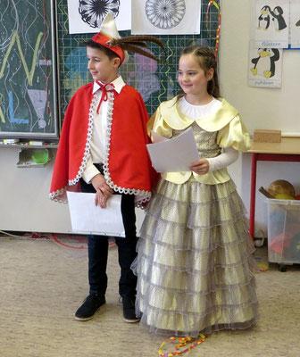 LIOBA-Kinderprinzenpaar 2020 - Lena und Gustaf aus der Klasse 4c