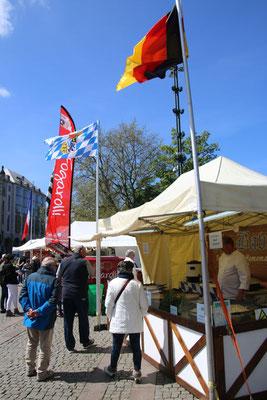 Internationales Kulinarium - Deutschlang war auch vertreten: Mit Spätzle