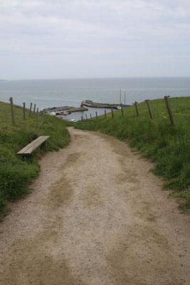 Der Weg zur Küste runter