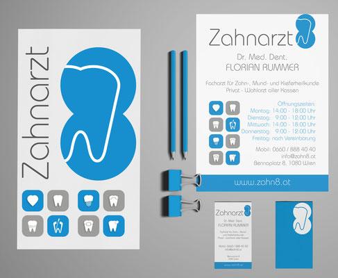 Logoentwicklung - Grafiker Loibenböck - Zahnarzt Dr. Rummer - Grafikstudio