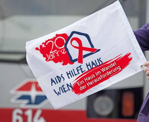 Aids Hilfe Haus Wien - 20 Jahre - Grafikstudio Raster und Punkt - Logodesign