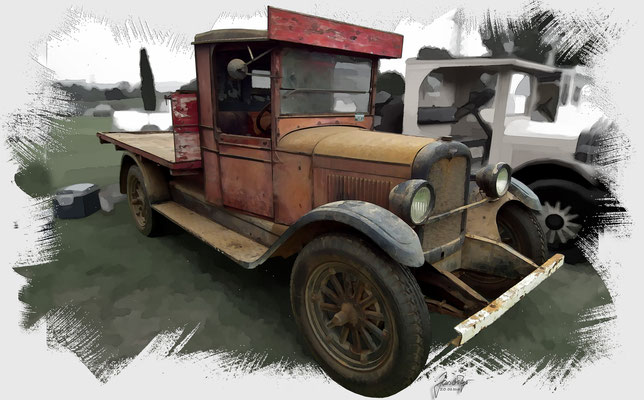 """Chevrolet Table Top Truck, 1920 , based on the Photo """"1920's Chevrolet table top truck."""" by sv1ambo who licensed it CC BY 2.0"""