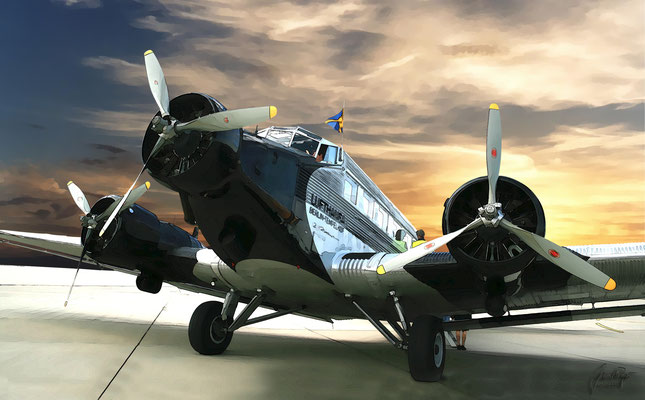 Ju-52, Frontansicht