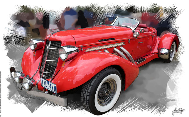 Auburn 851 Speedster, 1936, based on a photo by Sicnag, who licensed it CC BY 2.0