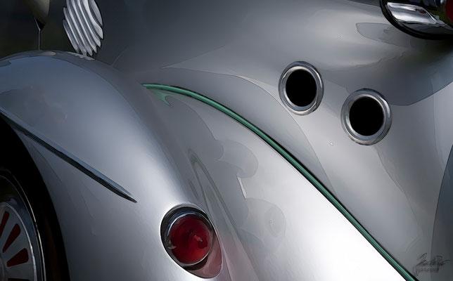 Messerschmitt Kabinenroller TG 500, Heckansicht