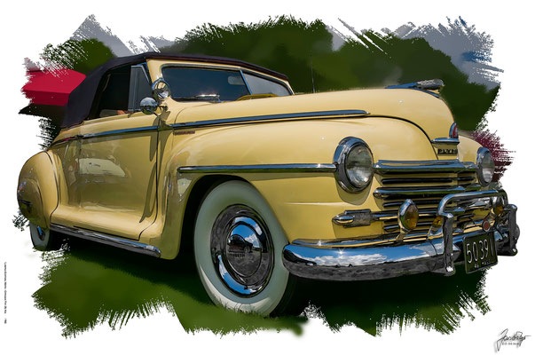 Plymouth Convertible, 1940, based on a photo by Bob P.B. who licensed it CC BY 2.0