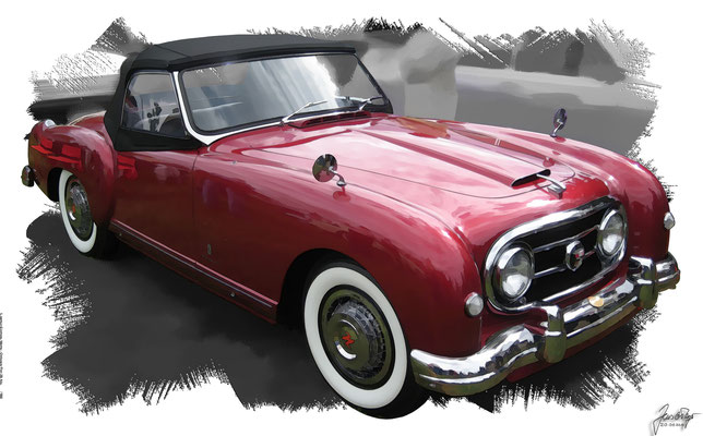 Nash Healey Convertible, 1953, based on a photo by John Lloyd who licensed it CC BY 2.0