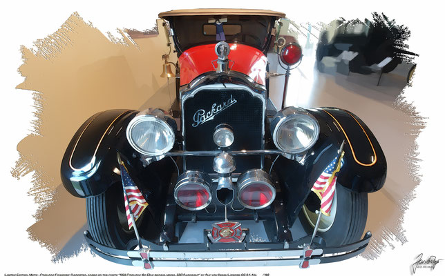 Packard Six Runabout Firechief, 1926, based on a photo by Alf van Beem who licensed it CC 0.1