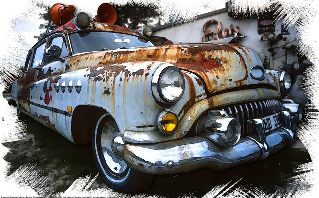 "Buick Roadmaster 1936, Artwork based on the photo ""rusty oldtimer"" by neekoh.fi who licensed it CC BY 2.0"