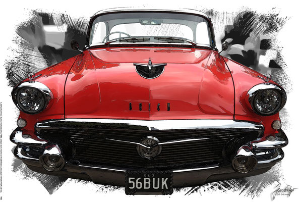 Buick Roadmaster Coupé 1956, based on a photo by KGBO who licensed it CC BY SA 3.0