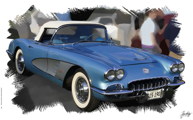 Cherolet Corvette C1 1958-1961, based on a photo by Greg Gjerdingen who licensed it CC BY 2.0