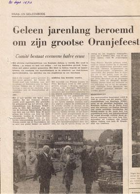 Oranjecomité bestaat 50 jaar (1973)