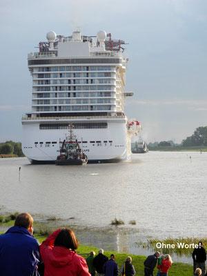 Schiffsüberführung: Über die Ems zur Nordsee. Foto: Judith Alwin