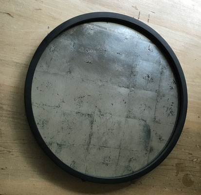 40cms diameter. Custom forged metal frame