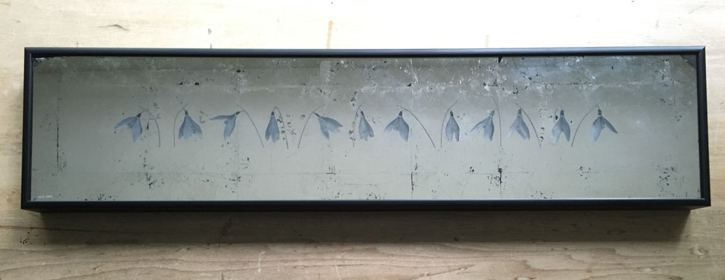 40 x 14cms. Wall mounted. Metal frame