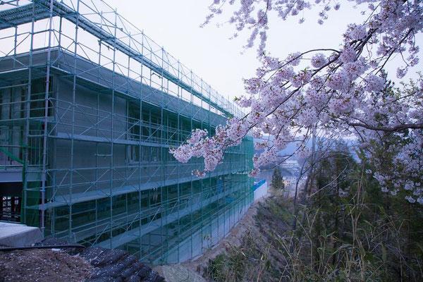建設中の吉里吉里保育園の写真。被災地の復興、こんな風に少しずつ前進しています。