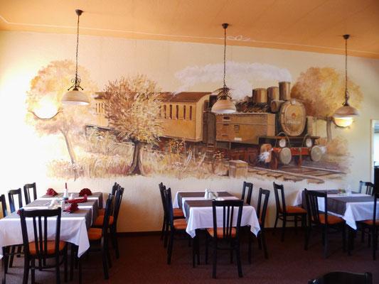 Das Gemälde im Restaurant