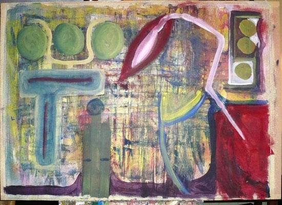 ohne Titel - Acryl auf Pappe, 90 x 70cm, 2012