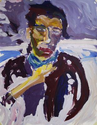 Portrait - Acryl auf Papier, 40 x 60cm, 2011