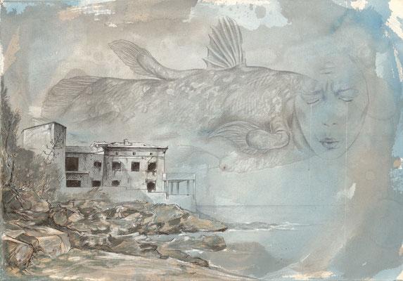 The Wind Sleeper - Mischtechnik auf Leinwand - 100 x 70 cm - 2018