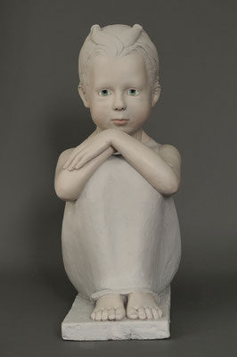 Ohne Titel - Keramik, farbig gefasst, 53 x 24 x 43 cm, 2020