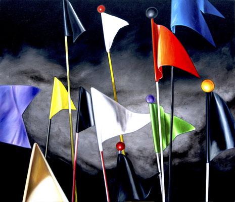 der Sturm, 190 x 220 cm, Öl auf Leinwand, 2012