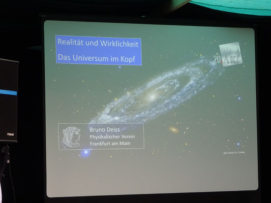 """Vortrag Prof. Bruno Deiss """"Realität und Wirklichkeit-Das Universum im Kopf"""" 2019"""