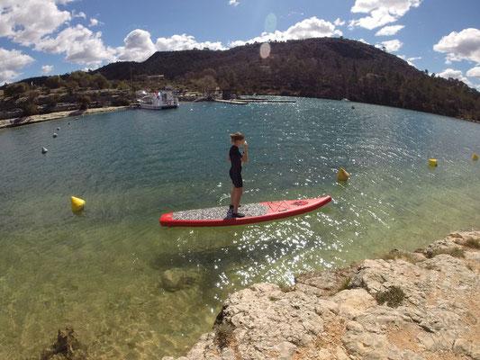 Paddle sur le lac d'Eparron
