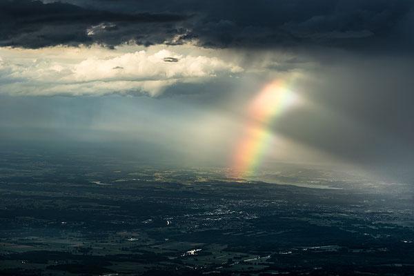 Regenbogen über Rosenheim