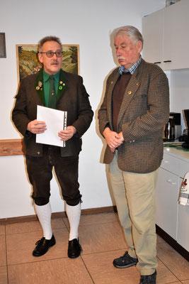 Der Ewergeschwurne vom Heimatbund Oberharz e.V., Rüdiger Kail,  ehrt Rainer Kutscher