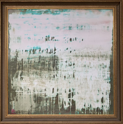 Chicago rain (100 x 100 cm - acrylic on canvas - 2008) SOLD