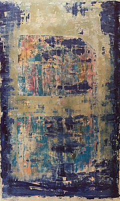 blue b. (100 x 150 cm - acrylic on canvas - 2016) SOLD
