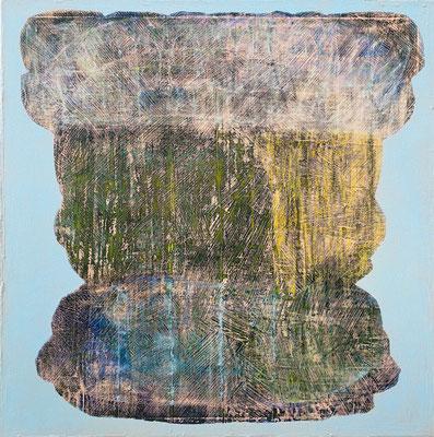 calyx (100 x 100 cm - acrylic on canvas - 2020)