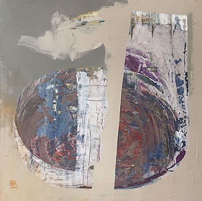 twins (100 x 100 cm - acrylic on canvas - 2010) SOLD
