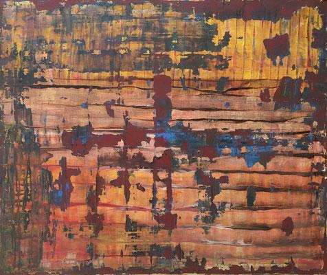 horizon (120 x 100 cm - acrylic on canvas - 2018)