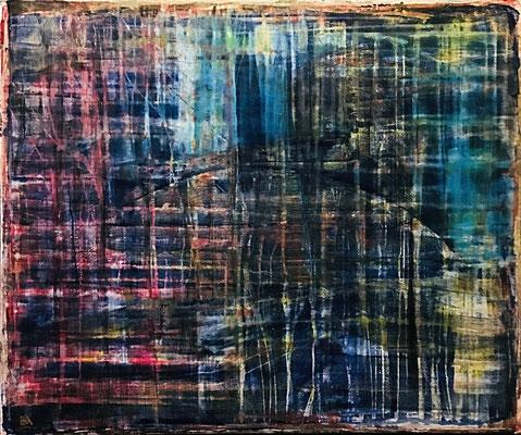 fushigina (120 x 100 - acrylic on canvas - 2017)