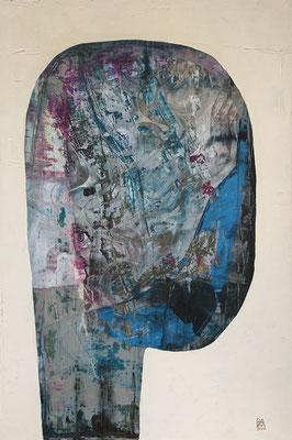 head #2 (80 x 120 cm - acrylic on canvas - 2015)