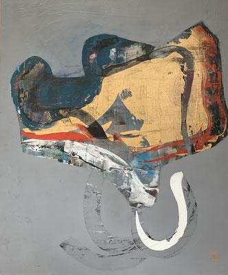 wilson's bird of paradise (100 x 120 cm - acrylic on canvas - 2008)