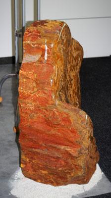 Jaspis Felsen rohe Seite