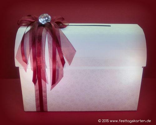 """Briefbox mit Schleife und """"Diamant"""""""