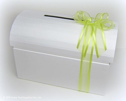 """Briefbox mit Schleife und """"Doppelherzen"""""""
