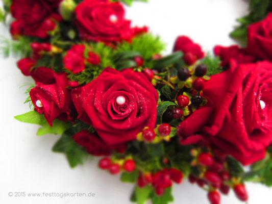 """Eine Detailaufnahme der """"Rosen Schönheiten"""""""