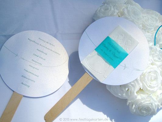 """Programm """"Lollie"""" mit Wedding Hankie für die """"Freudentränen""""."""