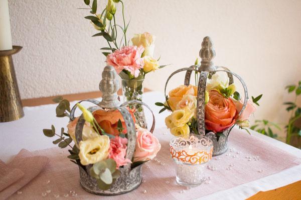 Altargesteck mit Blumenkronen #flowercrown