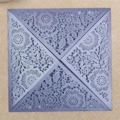 Lasercut Karte #A0013* in Sonderfarbe Lavender Shimmer