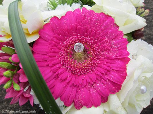 """Detailaufnahme: Traum in Pink mit """"Diamant"""""""