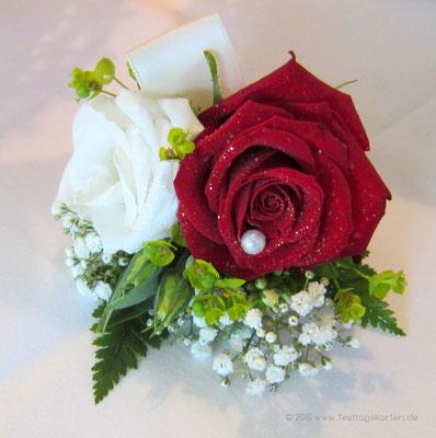 Bouqet für das Revers des Bräutigams